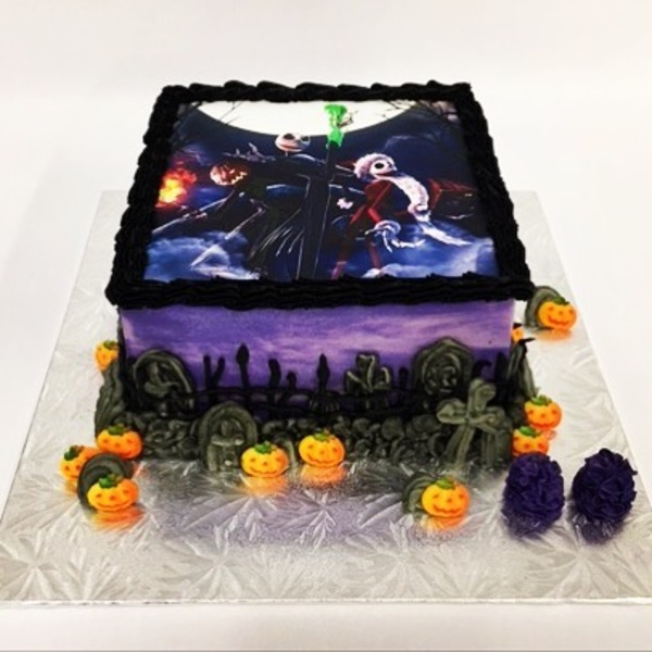 Nightmare Before Xmas Edible Image Cake