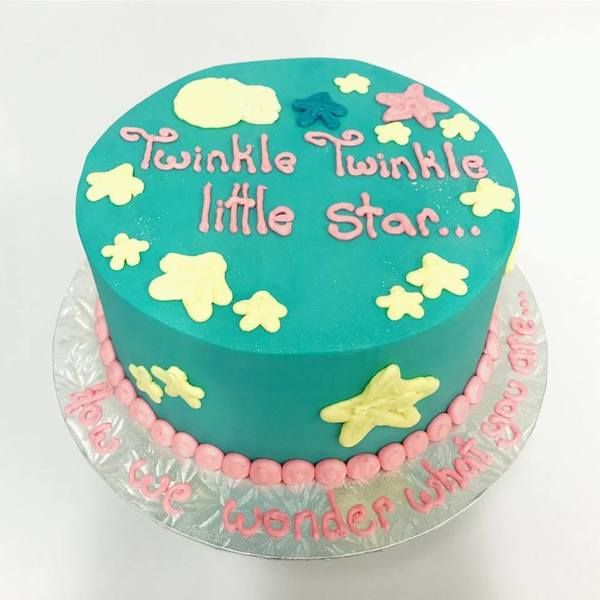 Gender Reveal Twinkle Twinkle Blue and Cream