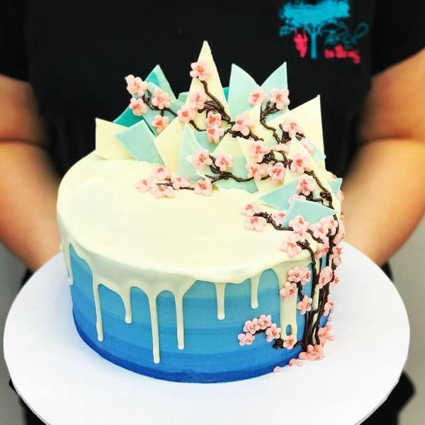 Cherry Blossom and White Chocolate Drip