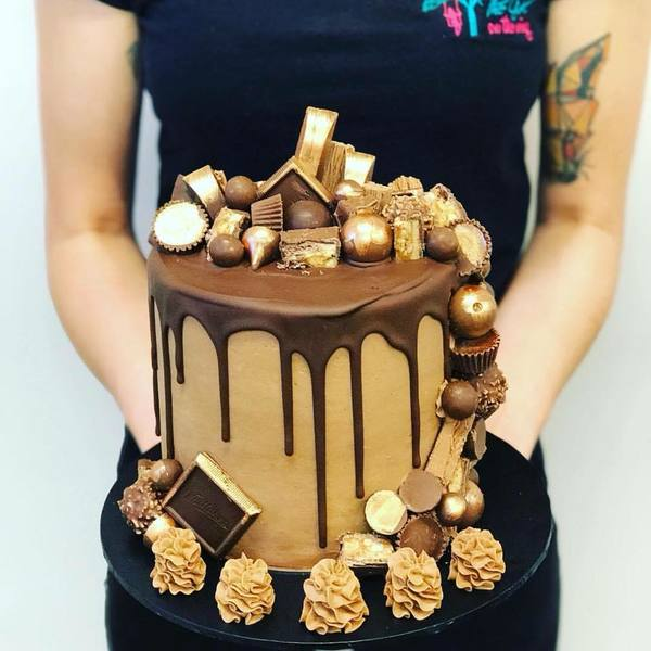 Chocolate Waterfall cake