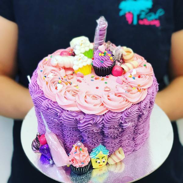 Purple Star Ruffle with Mini Overload Toppings