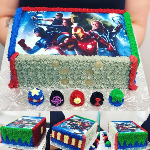 Avengers Rectangle Cake with Edible Image