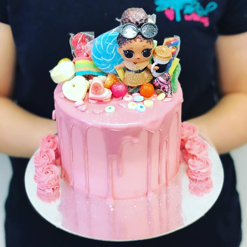 Pink Drip And Candy Lol Doll Cake The Girl On The Swing