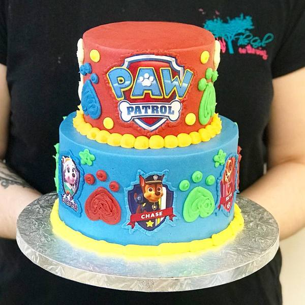 Blue and Red Two Tier Paw Patrol