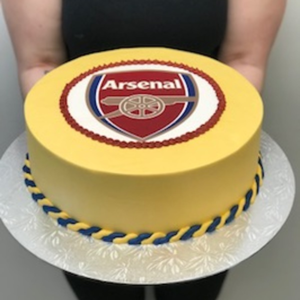 Smooth Gold with Arsenal Edible Image