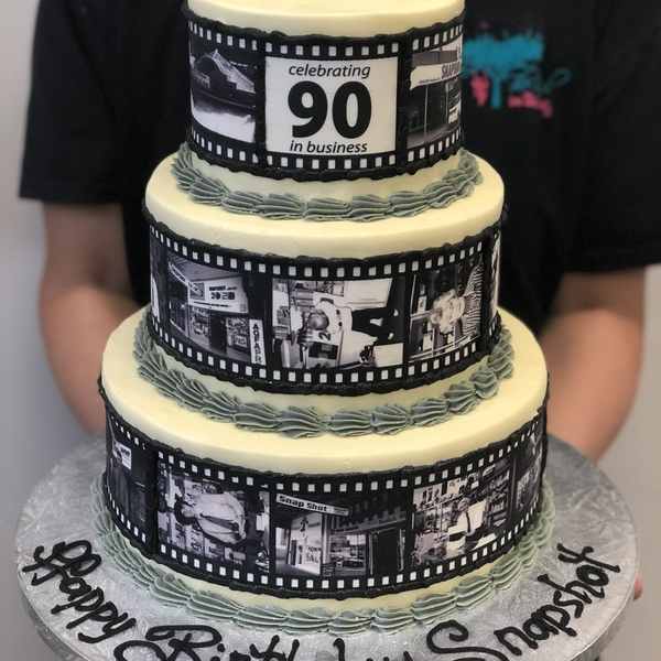 Three Tier Smooth Cream With Edible Image