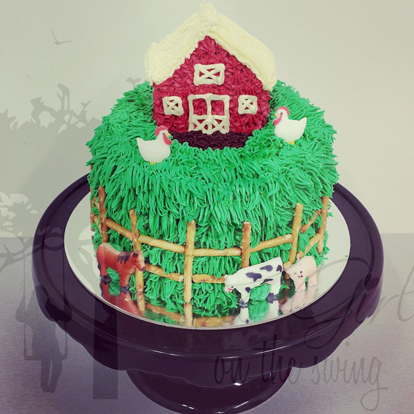 Barn Cake with Animals