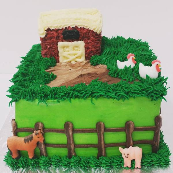Little Square Farm Cake