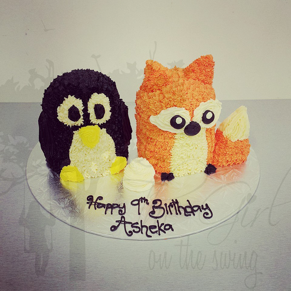 Penguin and Fox Cakes