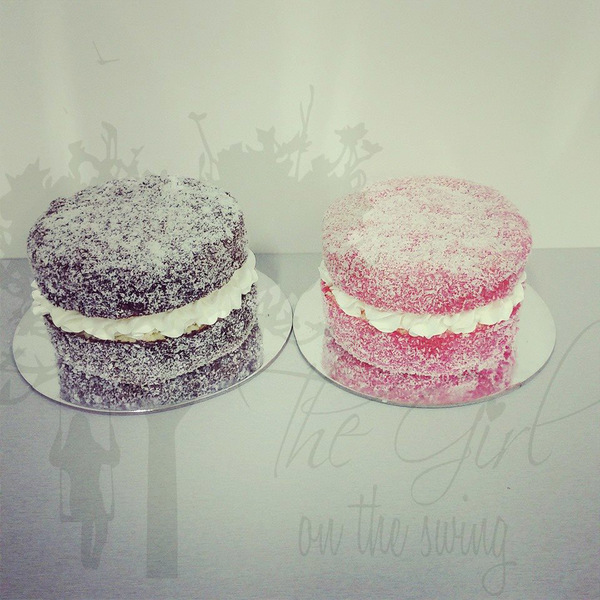 Chocolate and Raspberry Lynja (Lamington Cakes)