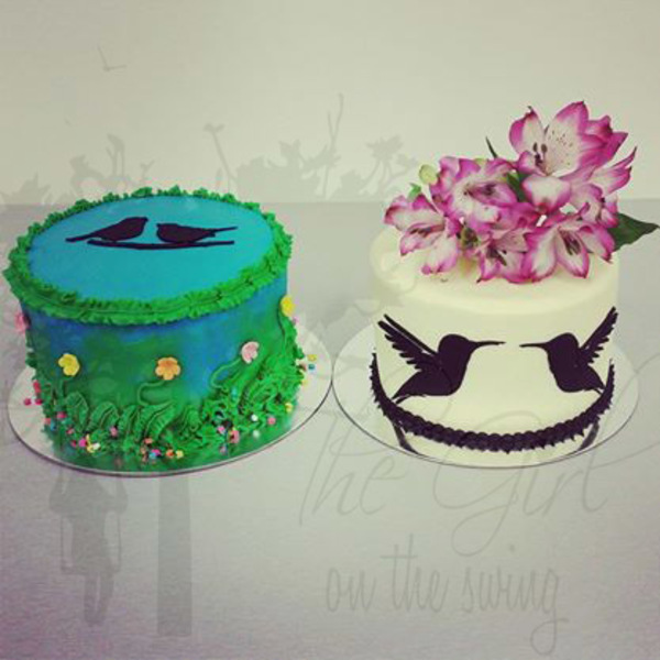 Garden Bird Themed Cake