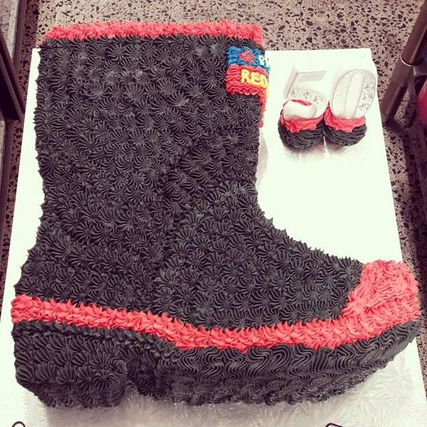 Carved Red Band Gumboot Cake