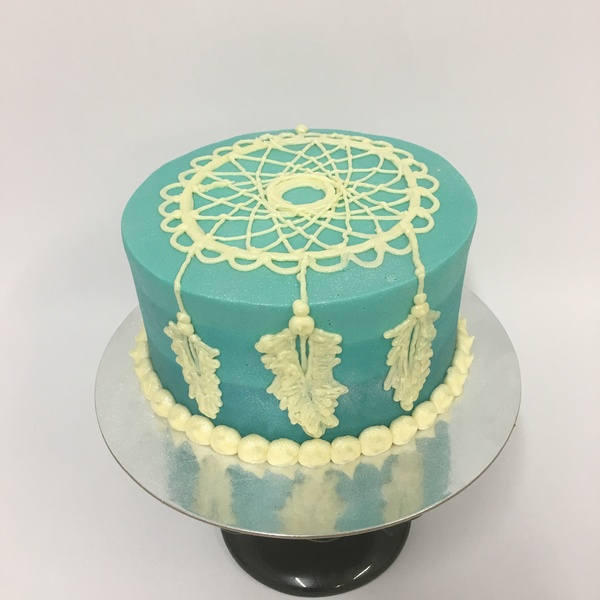 Blue Ombre Dream Catcher Cake