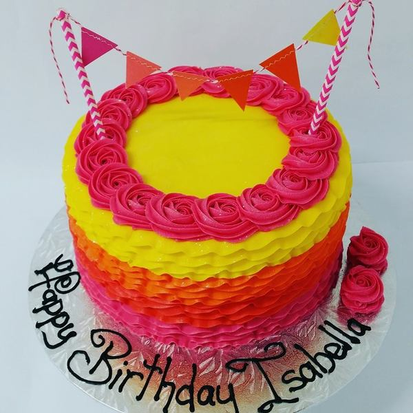 Four Colour Frill Cake