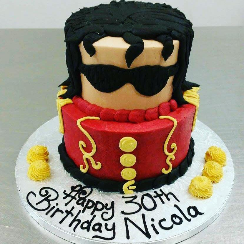 Michael Jackson Two Tier Cake