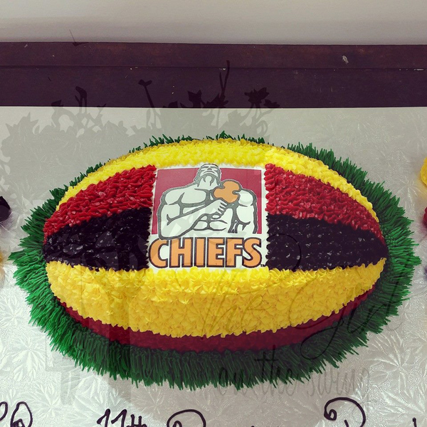 Chiefs Waikato Rugby Ball (with Edible image)