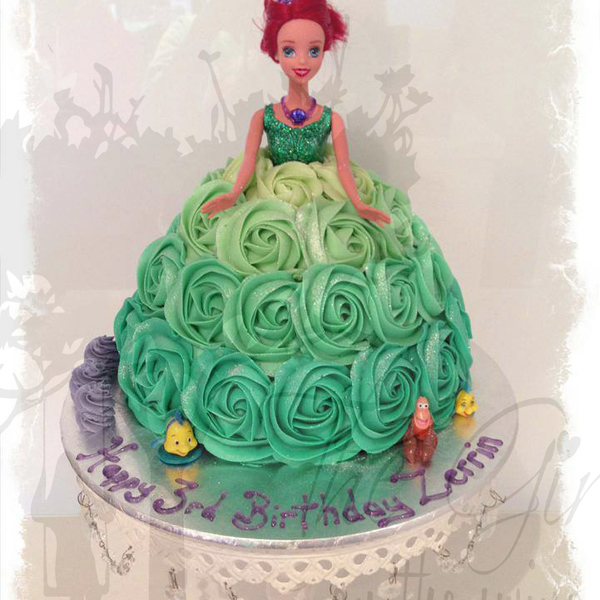 Ariel Ombre Roses Cake