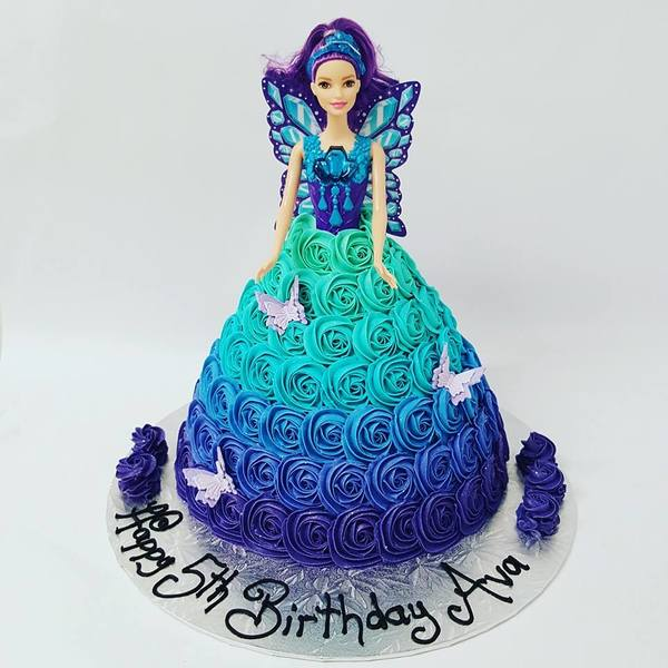 Purple to Blue Ombre Fairy Cake