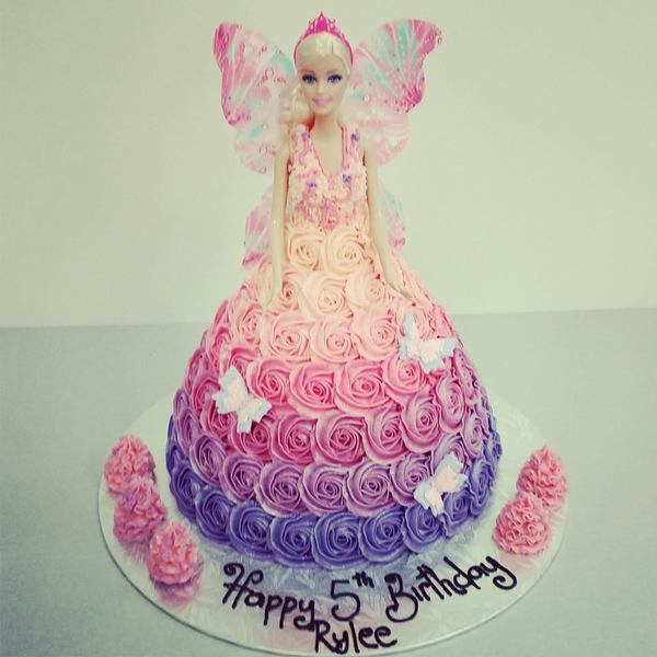 Pink Fairy with Purple to Pink Ombre Roses
