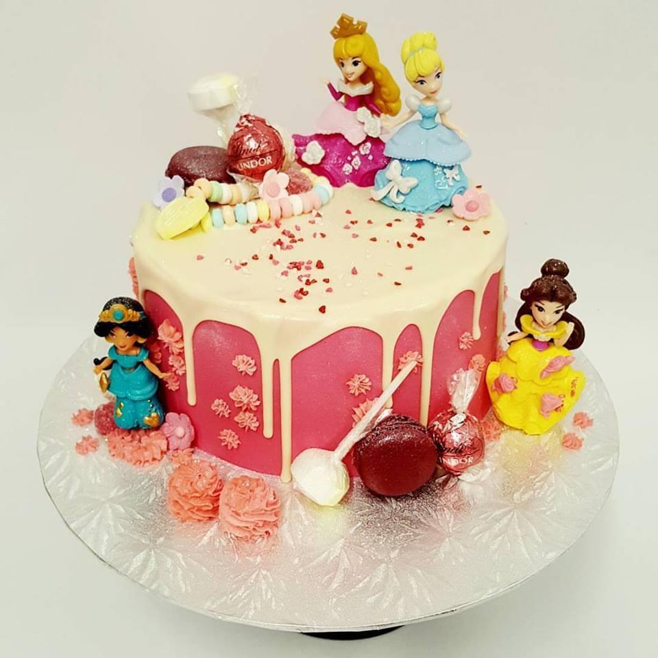 Disney Princess Drip Cake