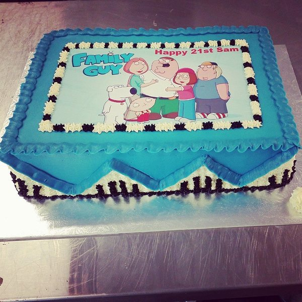 Rectangle Family Guy Cake (with edible image)