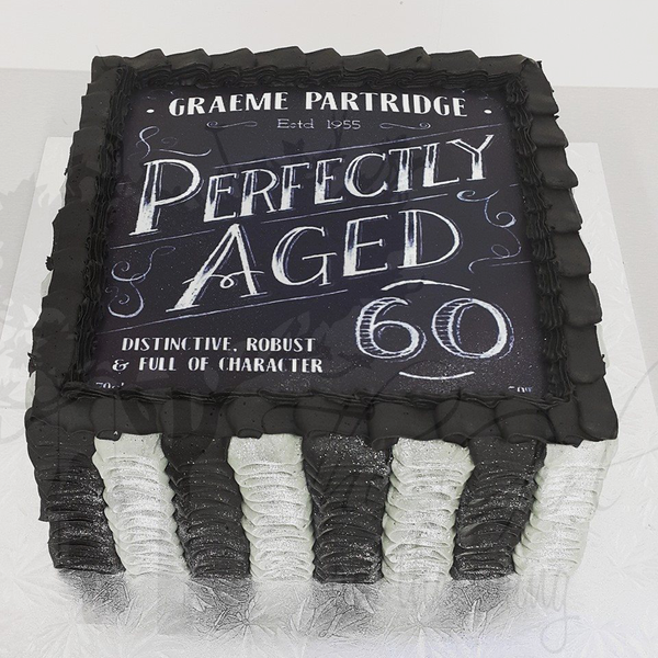 Grey and Black Ruffles (with edible image)