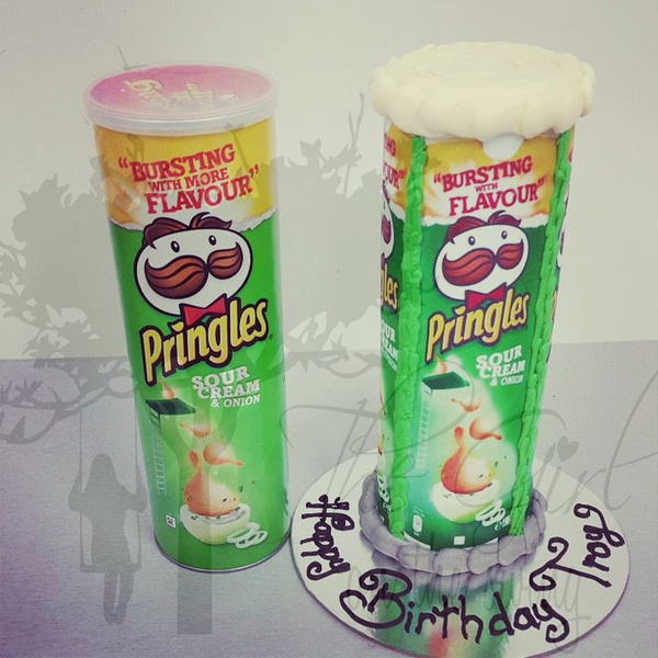 Pringles Can Cake (with edible image)