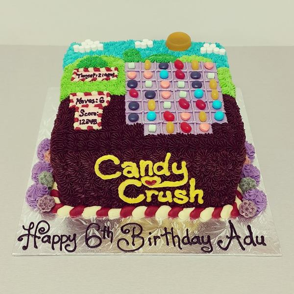 Square Candy Crush Cake