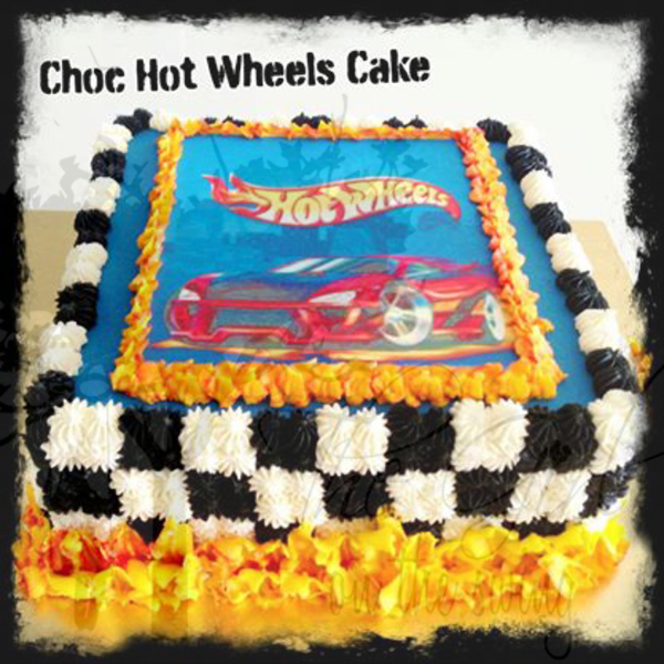 Hot Wheels Edible Image cake