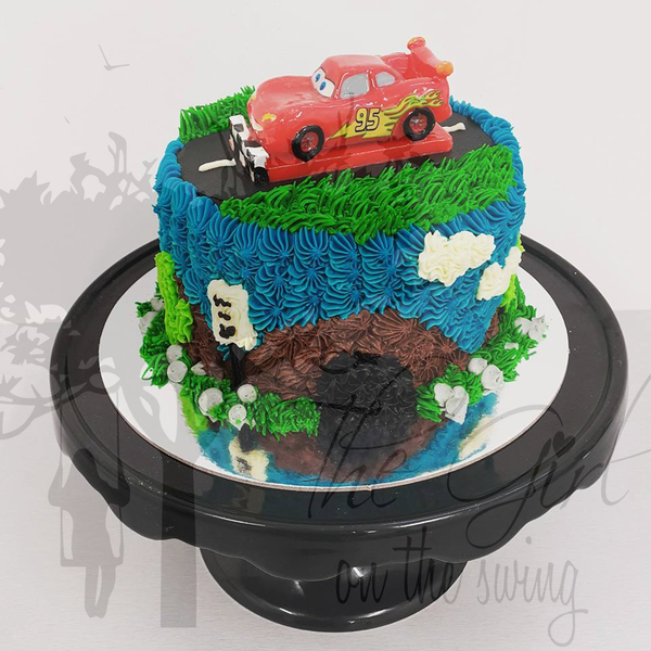 Lightening McQueen Candle cake