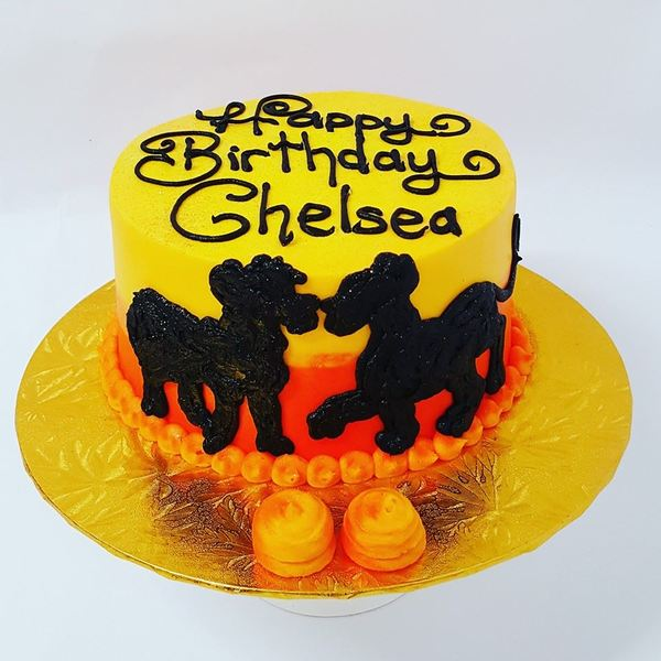Lion King Silhouette Smooth Two Colour cake