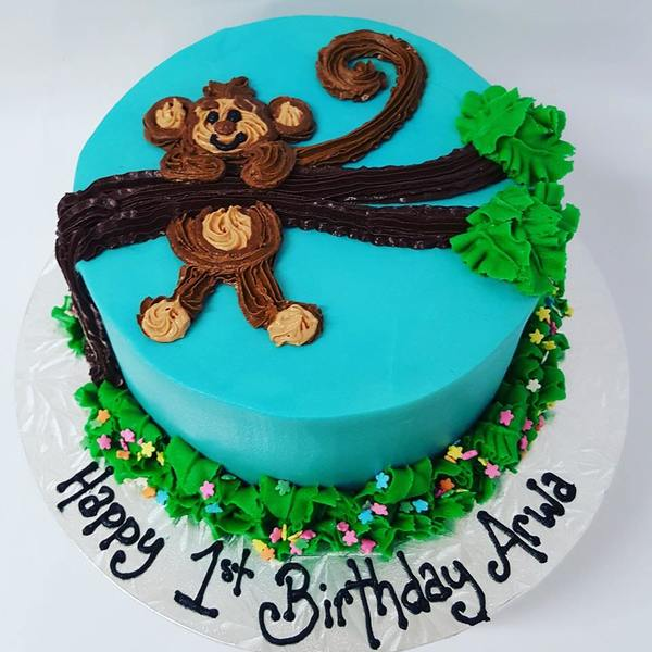 Monkey Hanging off Branch Cake
