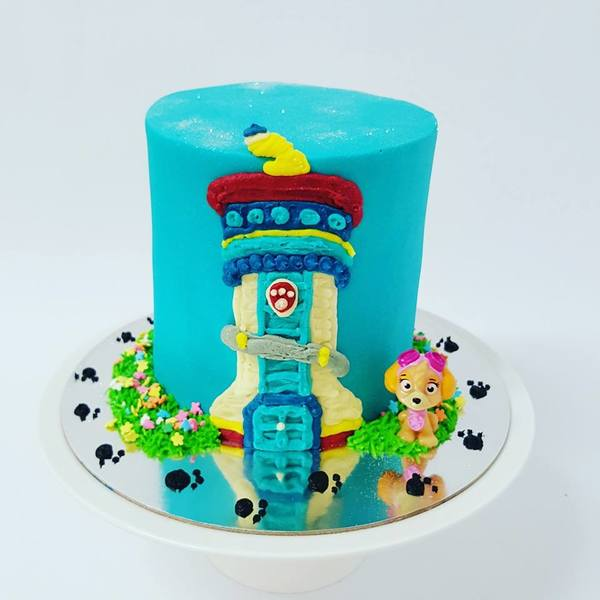 Paw Patrol Tower Cake with Skye