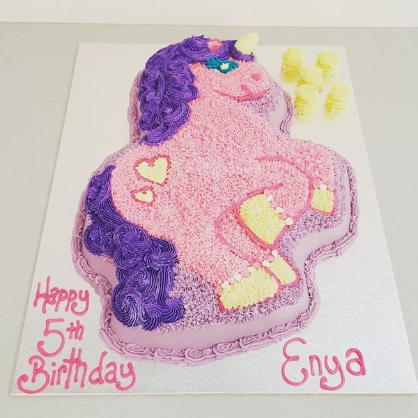 Pink and Purple Unicorn Cake (Full Body)