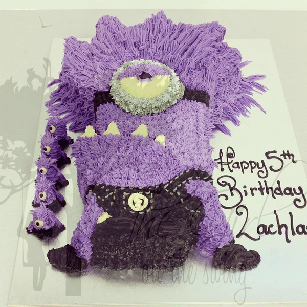Purple Minion Cake