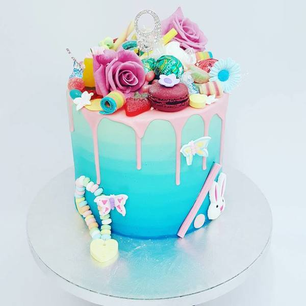 Blue Ombre Overload with Rainbow Toppings