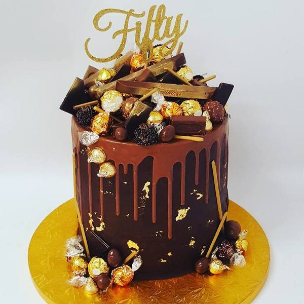 Giant Gold Overload Cake