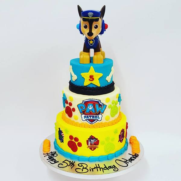 Three Tier Paw Patrol Cake (with edible image)