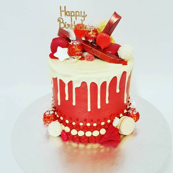 Tall Red and White Chocolate Overload