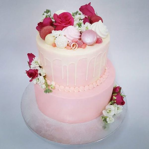 Two Tier Pink and Cream Overload