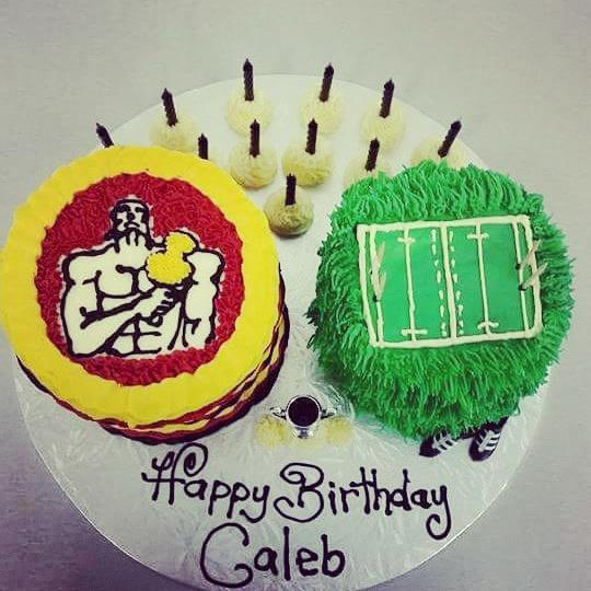Chiefs and Rugby Field Cakes - The Girl on the Swing