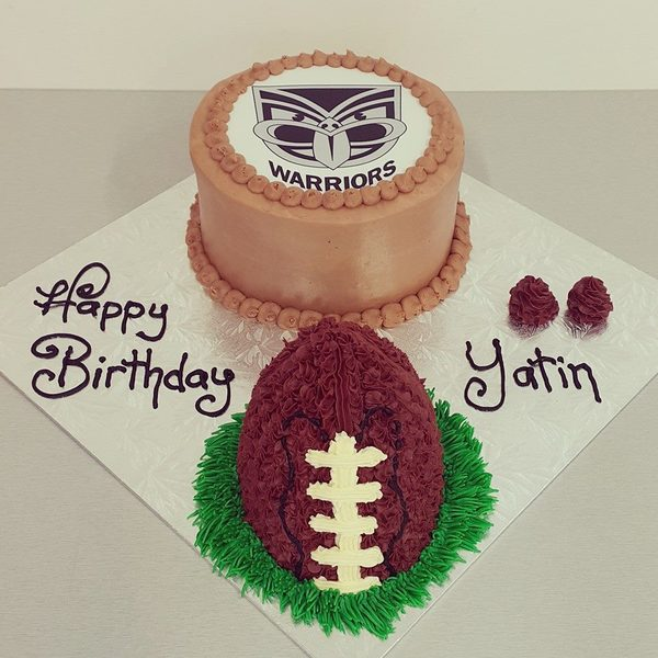 Edible Image cake and Rugby Ball