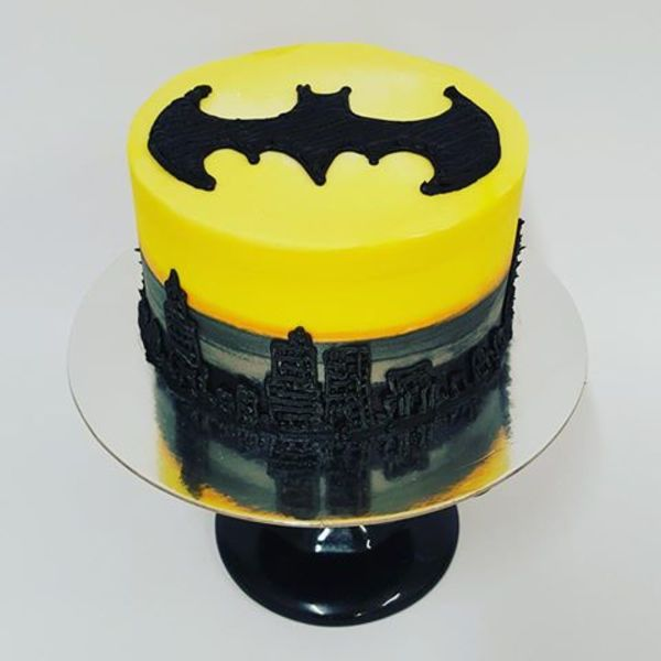 Batman Symbol with Skyline