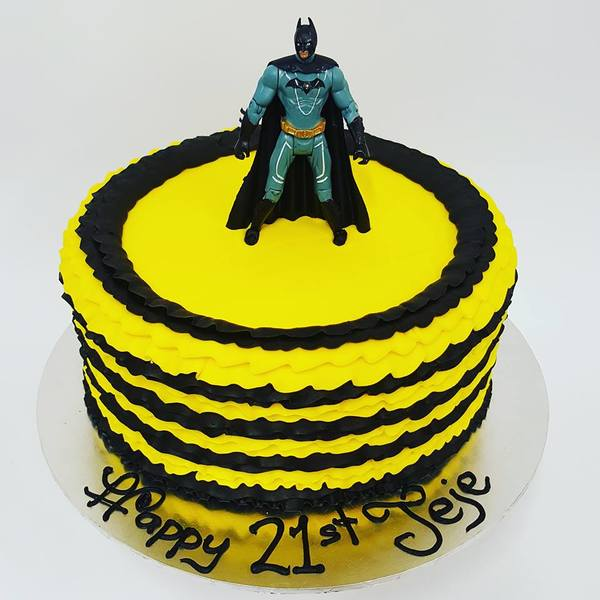 Black and Yellow Frills with Batman Figure