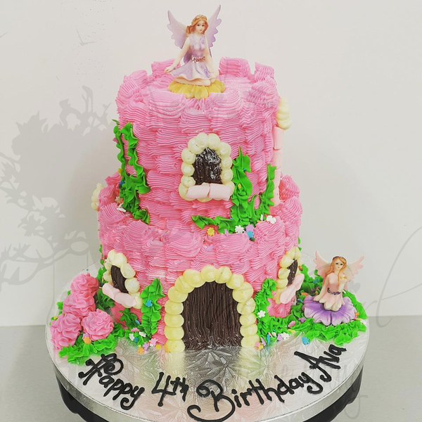Pink Two Tier Fairy Castle