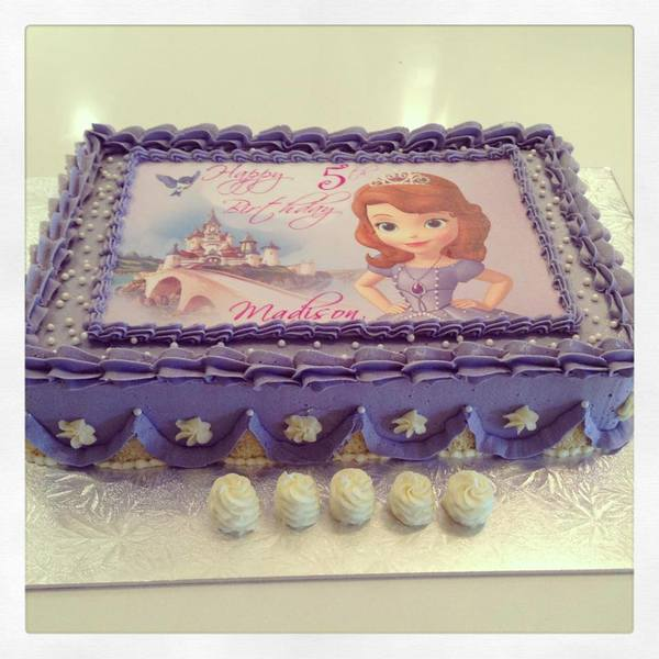 Rectangle Princess Sofia Cake