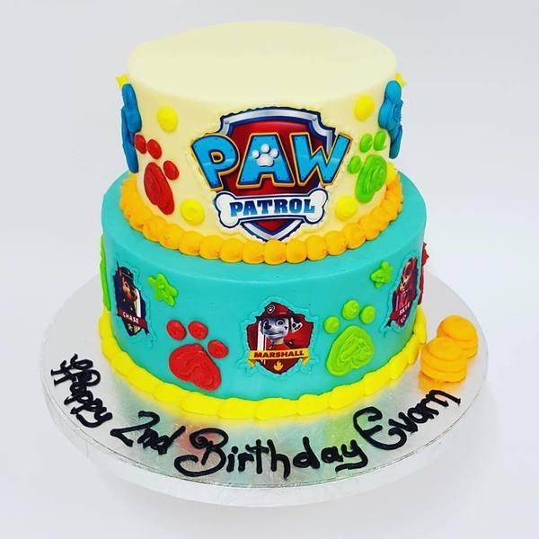 Two Tier Paw Patrol (with edible images)