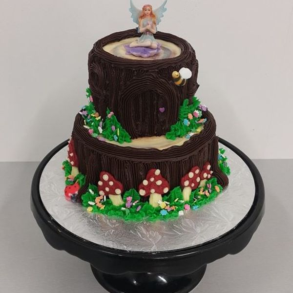 Two Tier Fairy Tree Cake
