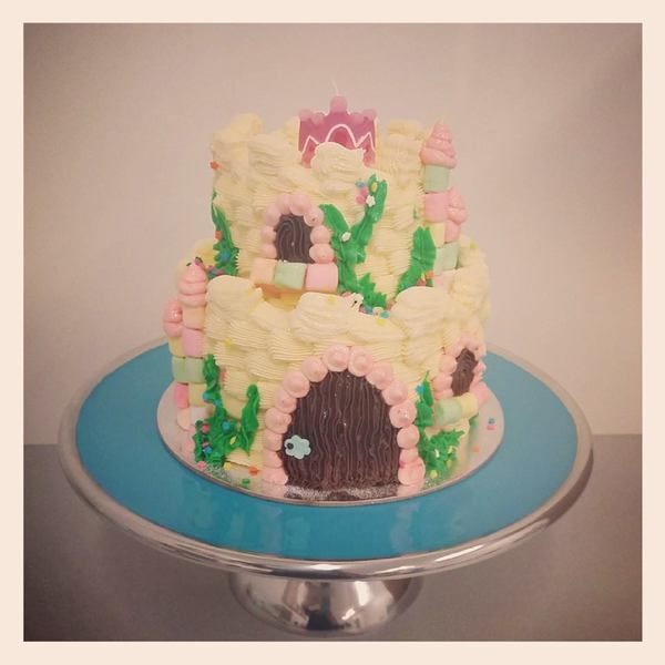 White Two Tier Princess Castle