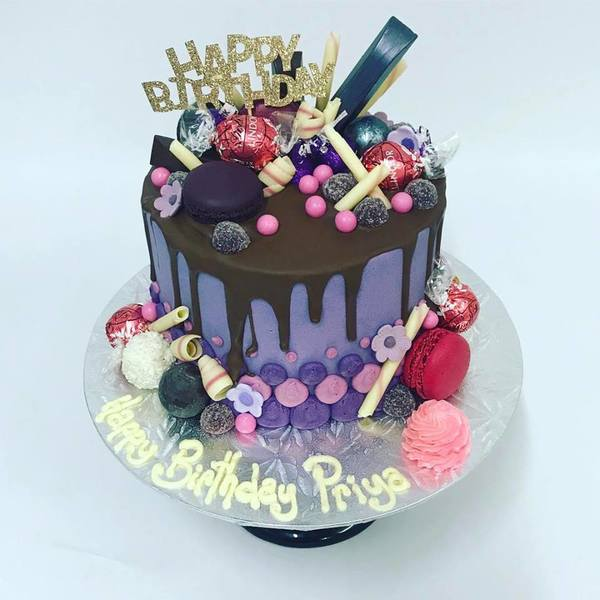 Smooth Purple and Pink Overload Cake